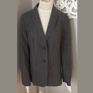 Escada Sport Gray Wool Blazer Jacket Women's 40